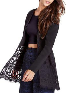 BCBGeneration Sheer Lace Jacket