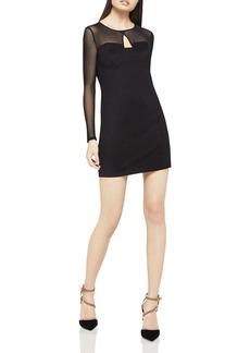 BCBGeneration Sheer Sleeve Body-Con Dress