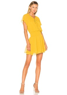 BCBGeneration Short Sleeve Blouson Dress In Golden Rod in Yellow. - size L (also in M,S)