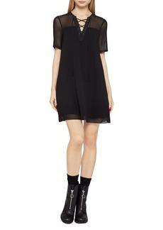 Short-Sleeve Sheer Corset Dress