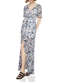 BCBGeneration Slit Floral Print Maxi Dress