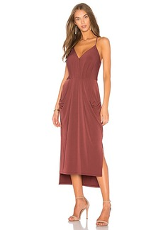 BCBGeneration Slit Midi Dress in Red. - size L (also in M,S,XS)