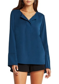 BCBGENERATION Solid Long Sleeve Top