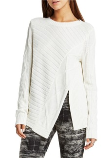 BCBGENERATION Solid Ribbed Pullover