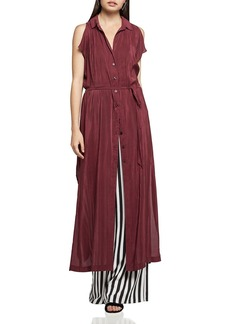 BCBGeneration Split-Sleeve Maxi Shirt Dress