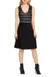 BCBGeneration Stitched Pattern Dress