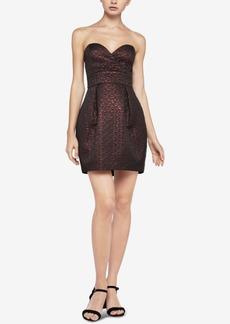 BCBGeneration Strapless Metallic Textured Dress