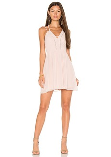 BCBGeneration Strappy V Dress in Rose. - size 4 (also in 10,8)