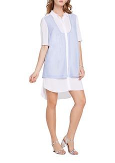 BCBGENERATION Striped Double-Layered Shirt Dress