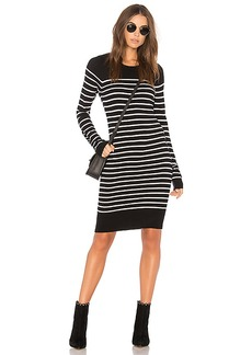 BCBGeneration Striped Dress In Black Combo in Black. - size L (also in M,S,XS)