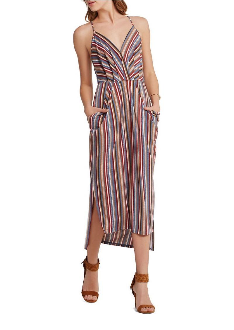 Bcbg Bcbgeneration Striped Midi Faux Wrap Dress Dresses