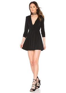 BCBGeneration Surplice Dress in Black. - size M (also in S,XS)