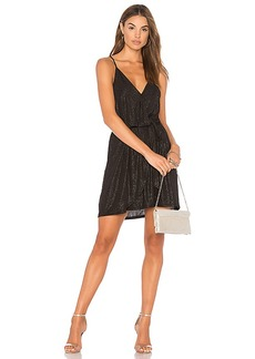 BCBGeneration Surplice Dress In Black in Black. - size L (also in M,S,XS)