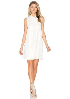 BCBGeneration Tie Neck Dress in White. - size M (also in S,XS)