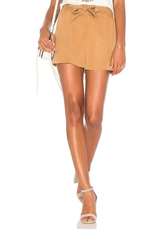 BCBGeneration Tie Waist Short in Tan. - size L (also in M,S,XS)