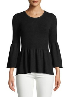 BCBGeneration Tulip-Sleeve Fit & Flare Sweater