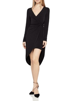 BCBGeneration Twist-Front Faux-Wrap Dress