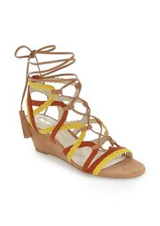 BCBGeneration 'Vanda' Lace-Up Wedge Sandal (Women)