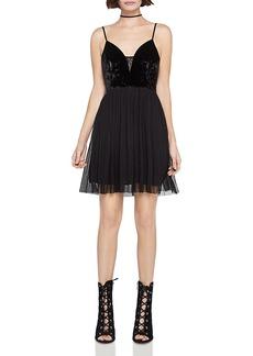 BCBGeneration Velvet-Bodice Dress