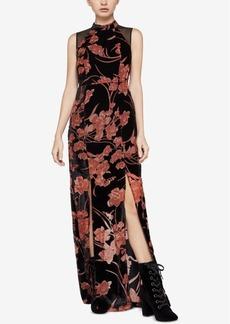 BCBGeneration Velvet Burnout Maxi Dress