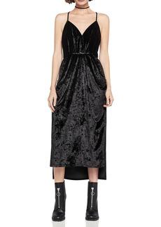 BCBGeneration Velvet Faux-Wrap Midi Dress