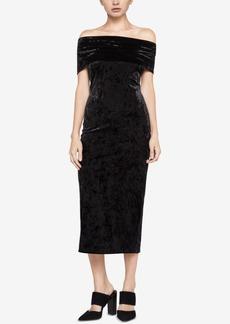 BCBGeneration Velvet Off-The-Shoulder Midi Dress