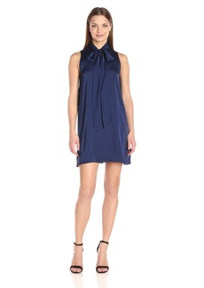BCBGeneration Women's a-Line Blue Dress With Neck Tie  M