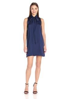 BCBGeneration Women's a-Line Blue Dress with Neck Tie  XXS