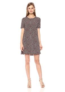 BCBGeneration Women's Easy Printed Short Sleeve Swing Dress