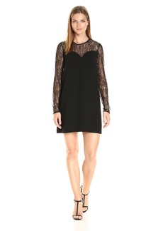 BCBGeneration Women's a-Line Dress with Lace Inserts  XXS