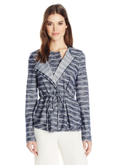 BCBGeneration Women's Asymetrical Drape Front Jacket
