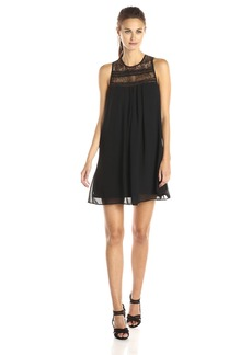 BCBGeneration Women's Babydoll Dress with Lace Trim