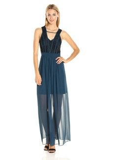 BCBGeneration Women's Binded Contrast Maxi Dress