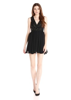 BCBGeneration Women's Binded Mesh Sequin Dress