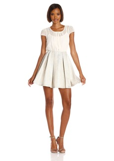 BCBGeneration Women's Blouse and Full Skirt Dress