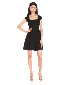 BCBGeneration Women's Cap Sleeve Fit and Flare
