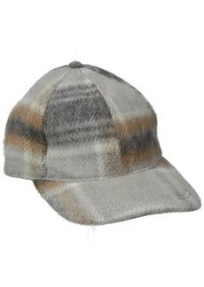 BCBGeneration Women's Checked Baseball Hat