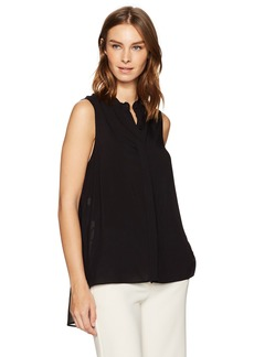 BCBGeneration Women's Chiffon Back Sleeveless Shirt