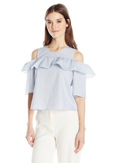 BCBGeneration Women's Cold Shoulder Ruffle Dress