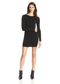 BCBGeneration Women's Cowl Back Mini Dress black