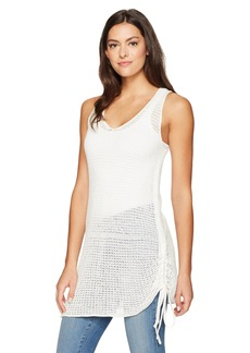 BCBGeneration Women's Crochet Drawstring Tank