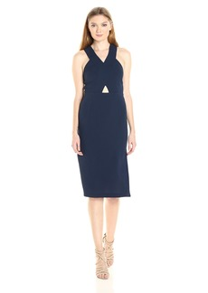 BCBGeneration Women's Cross Front Midi Dress