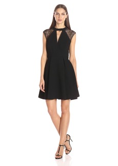 BCBGeneration Women's Deep V-Neck Dress