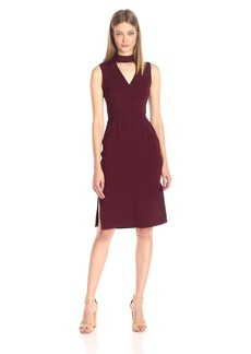 BCBGeneration Women's Deep V-Neck Dress with Mock Collar