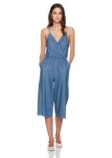 BCBGeneration Women's Denim Surplice Culotte Jumpsuit  X-Small