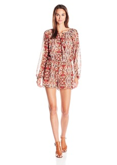 BCBGeneration Women's Dolman Sleeve Surplice Romper