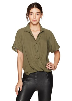 BCBGeneration Women's Dolman Wrap Hem Shirt