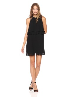 BCBGeneration Women's Double Layer Mock NK Dress