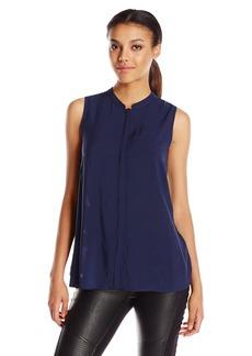 BCBGeneration Women's Draped Back Button-Down Shirt