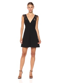BCBGeneration Women's Dress With Lace Trim